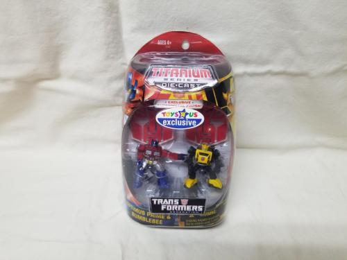 Titanium Series Optimus Prime and Bumblebee